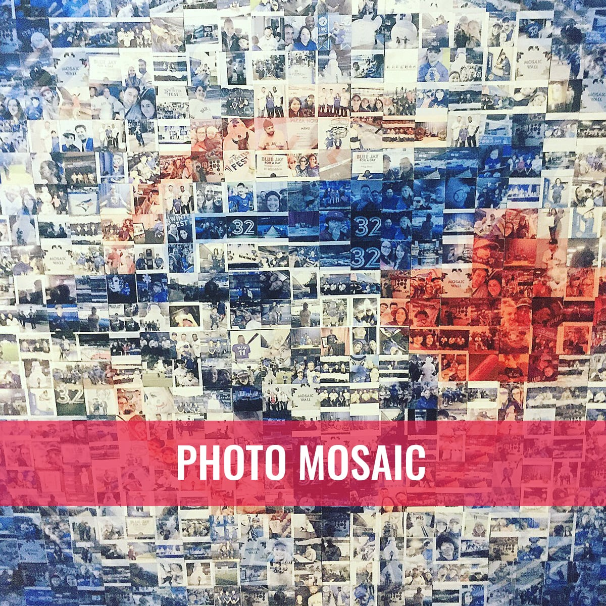 Photo Booth Rental Services blue jays photo mosaic interactive photo booth event toronto