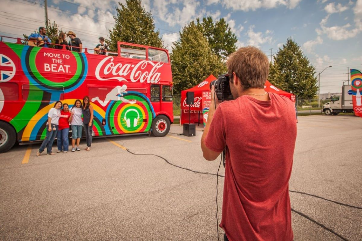 Photo Booth Rental Services Coca Cola event photographer