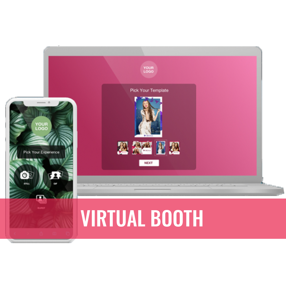 Virtual online photo booth from anywhere