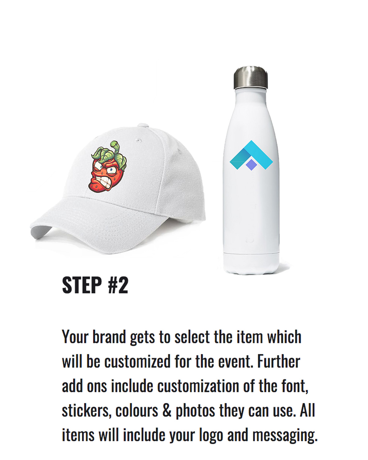 customized merchandise with custom messaging