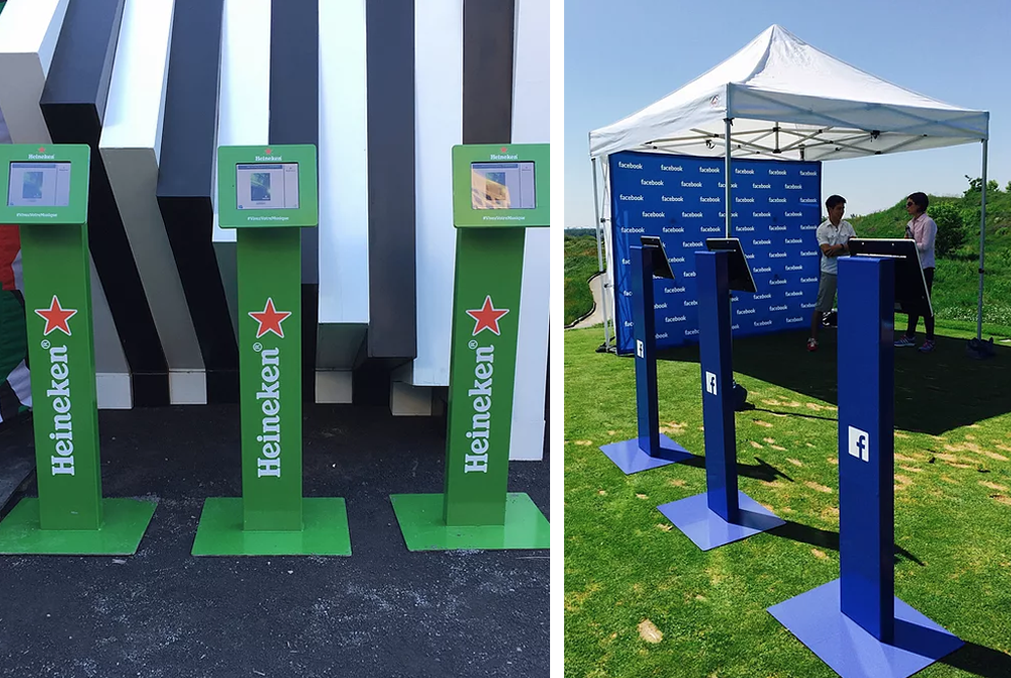 branded sharing kiosks Photo Booth Rental Services
