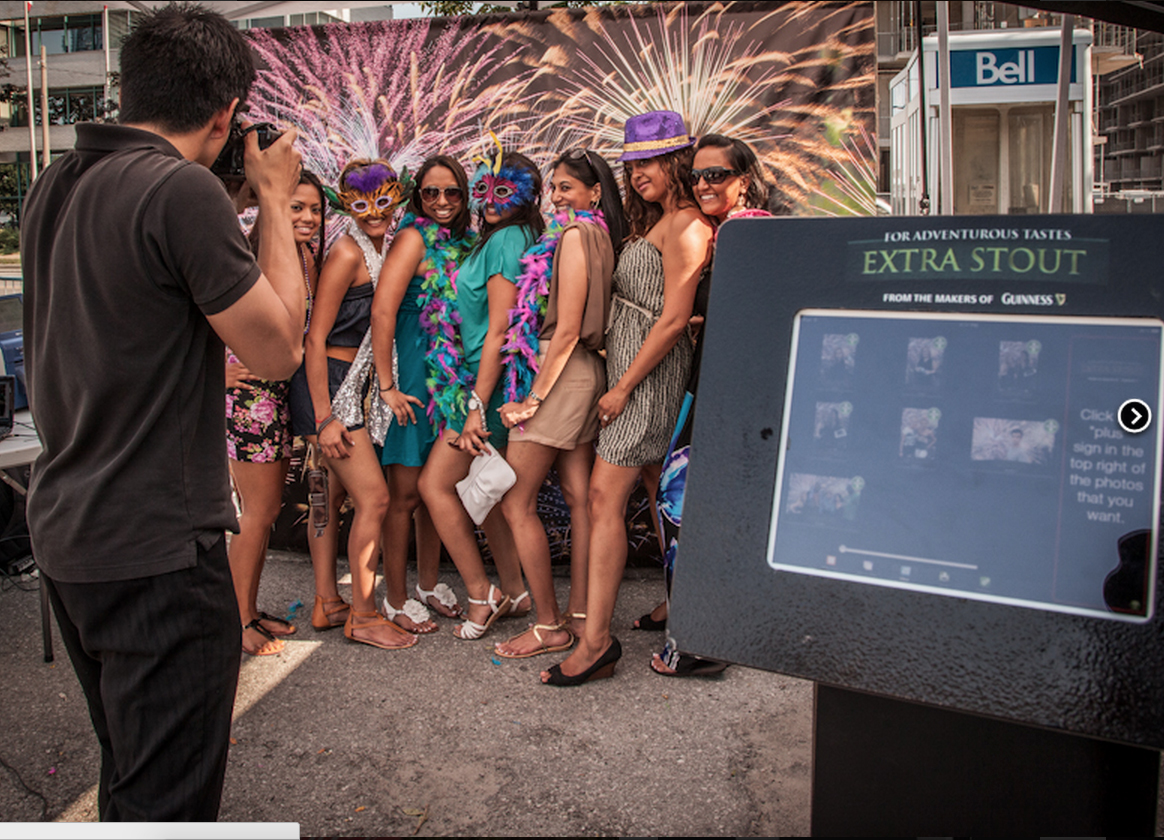 Photo Booth Rental Services Event Photography with custom backdrop and sharing kiosk